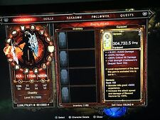 Diablo 3 PS4 Softcore Modded All Classes Set Necro Sorc Barb Crusader Wd Demon