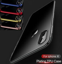 De Luxe Ultra Fin Résistant aux Chocs Silicone Transparent COQUE pour Iphone X 8