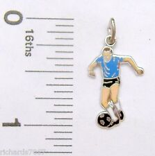 Charm Griffith Sterling Silver enamel MALE SOCCER PLAYER sports