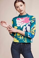 NWT SZ S ANTHROPOLOGIE LAINE FLORAL PULLOVER BY MONOGRAM HWR SWEATER TOP RATED