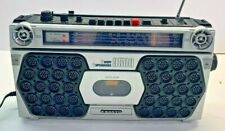 Vintage Refurbished Sanyo M 9500 RADIO CASSETTE PLAYER Boombox and six Cassettes
