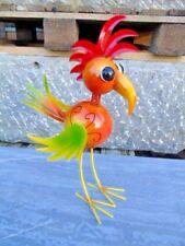 oiseau en fer forgé avec tête ressort ,bouge tous seul avec le vent , nouveau !