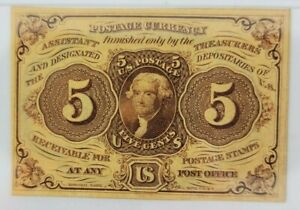 5 Cents 1st Issue Fractional Currency Fr#1230 PMG Certified Graded AU 58 EPQ