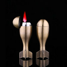 Torpedo Rocket Shaped Refillable Butane Gas Windproof Flame Cigarette Lighter