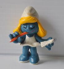 SECRETARY SMURFETTE w/ Pencil & Notebook PVC Figure 1980s Schleich PEYO Smurfs