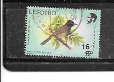 LESOTHO SC #755 OVERORINT 16s ON 12 s LARGE BIRD DEFINITIVE STAMP