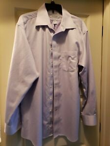 DANIEL CREMIEUX 100% Cotton Lavender Herringbone Button Down Shirt  17/35