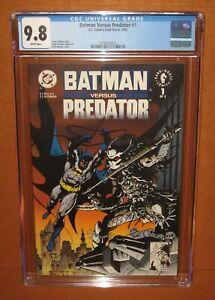 Batman versus Predator #1 (1991) CGC 9.8 WHITE pages! 12 HD pix INSURED!
