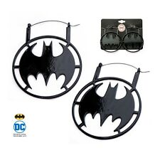 NEW Licensed DC Comics Batman Black IP Stainless Steel Hanger Earrings