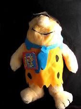 """Fred Flintstone Stuffed Plush Doll Nanco 14"""" 1990 NWT w Tag"""