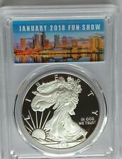 PCGS PR70 First Strike 2018-W Proof Silver AMERICAN EAGLE Dollar Tampa FUN Show*
