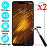 2Pcs Tempered Glass Screen Protector Film For XiaoMi Mi 8 SE Lite Pocophone F1