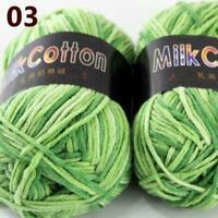 AIP New 2Skeinsx50g Soft DK Baby Cotton Crochet Yarn Hand Wool Scarf Knitting 03