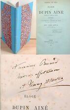 Éloge de DUPIN AINÉ / Dédicace auteur A. Tommy Martin / Ex-libris TRECIS / 1874
