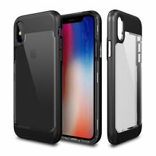 iPhone X Case, Patchworks Contour Clear Body Color Bezel Hybrid Cover For Apple
