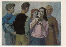 """POST CARD-Socialist tipo/GDR """"Young People""""/prof. Rudolf Bergander"""