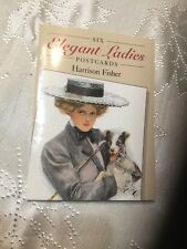Vintage Harrison Fisher Elegant ladies 6 Post Card Complete Set unused