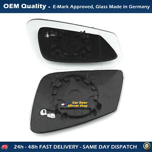 Heated Wing Mirror Glass with base For BMW 4 Series FITS To 2013 to 2020, RHS