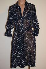 NWT DKNY Swimwear Bikini Cover up Dress Bar Navy Sz S Dots