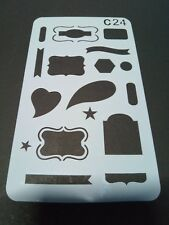 Stencil Cuore Stella Cardmaking Scrapbooking Diario Planner Craft 24