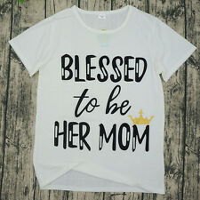 Mommy and Me Outfits Mother Daughter Matching Shirts Blessed to be her Mom New
