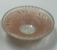 """Vintage Art Deco Ceiling Light Fixture Cover Lamp Shade Pink Glass 12"""""""