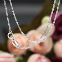 Pure Solid 18K White Gold Necklace /Best Lucky Wheat Link Chain Necklace/2g Xlee