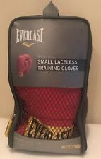 Everlast Red Laceless Training Gloves Size Small