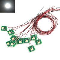 S207 - 10 Stück LED Beleuchtung weiß mit Kabel 12-19V Hausbeleuchtung Häuser