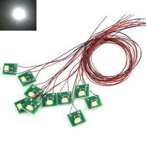 10x LED 3mm PINK 6-12 Volt Beleuchtung einbaufertig Eisenbahn Modellbau Haus