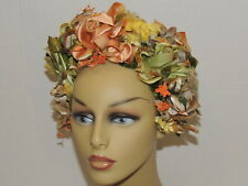 1960's Zani Hat Covered in Flowers Sm