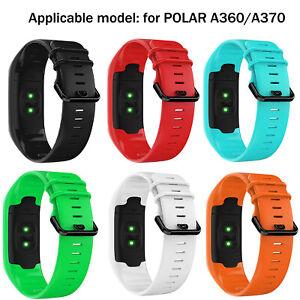 For POLAR A360/A370 Smart Bracelet Black buckle Watch Band Wristwatch Band Strap