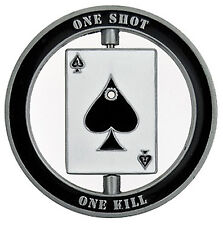 Smokin Ace One Shot Lucky Casino Poker Texas Holdem Card Guard Chip Protector