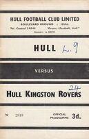 Hull FC v Hull Kingston Rovers 1962/3 (1 Sep)