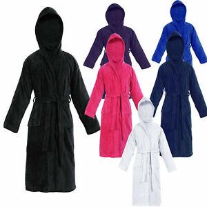 KIDS BATHROBE BOYS GIRLS 100% EGYPTIAN COTTON TOWELLING DRESSING GOWN SOFT TOWEL