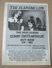 THE FLAMING LIPS - CLOUDS TASTE METALLIC  MUSIC PRESS ADVERT POSTER 16 X 12 in