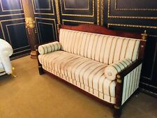 Original Empire Sofa Mahogany With Gilded Fittings Um 1800