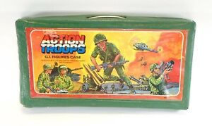 1982 military figure ACTION TROOPS CARRYING CASE #1 holds 24 Miner GI Joe JTC