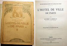 PARIS/HOTEL DE VILLE/L.LAMBEAU/ED H.LAURENS/1908/64 PLANCHES