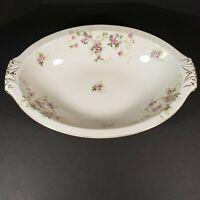Vintage Made In Occupied Japan Floral Pink Oblong Serving Bowl