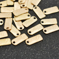 100PCS Handmade Gold Metal Labels Tags For Garment Bags DIY Sewing Accessories