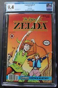 LEGEND OF ZELDA #1 Valiant Nintendo 1990 $1.50-c Comics 2nd Print CGC NM 9.4