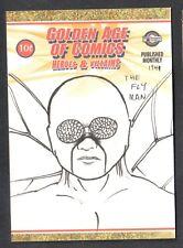 GOLDEN AGE OF COMICS HEROES & VILLAINS Breygent SDCC Sketch Card STEVEN MILLER 1