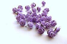 32 Lavender Rose Flower Thumbtacks or Push Pins, for Weddings, Parties, Showers