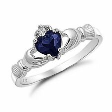 Cluster Sapphire White Gold Filled Costume Rings