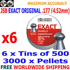 JSB EXACT ORIGINAL .177 4.52mm Airgun Pellets 6(tins)x500pcs