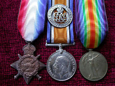 1914 Wounded Replica Copy Medal Group Aged Full size
