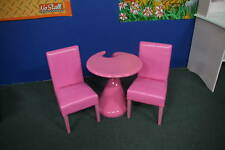 KIDS LEATHER TABLE + CHAIR SET 2 - NEW PRODUCT - PINK