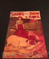 Shaws Bacon & Ham, Limerick - As Supplied To Royalty - 1910s Irish Advert Print