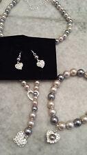 NEW Avon Pearlesque Y Lariat Faux Pearl Jewelry Set Necklace Earrings & Bracelet